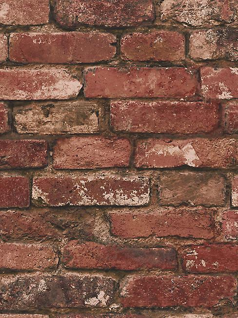 Red Brick Effect Wallpaper Fine Decor FD31285