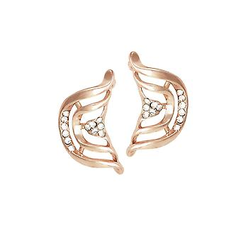 Eternal Collection Andromeda Clear Crystal Rose Gold Tone Stud Pierced Earrings