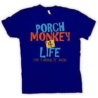 Mens T-shirt - Porch Monkey 4 Life - Clerks Inspired