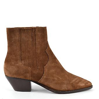 Ash FUTURE Ankle Boots Russet Suede