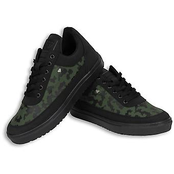 Shoes - Sneaker Low Camouflage Side - Green Black
