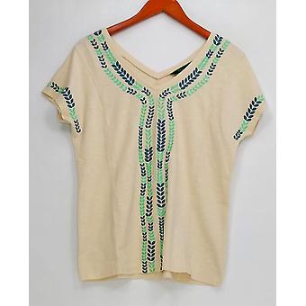 C. wonder vrouwen ' s top korte mouw V-hals T-shirt wit A278830
