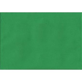 Holly Green Peel/Dichtung C4/A4 farbig grüne Umschläge. 120gsm Luxus FSC zertifiziertes Papier. 229 mm x 324 mm. Wallet-Stil-Umschlag.