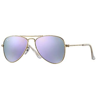 Ray-Ban Aviator Junior Golden Lilas Miroité