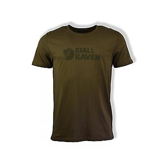 Fjällräven Logo Short-Sleeved T-Shirt (Dark Olive)