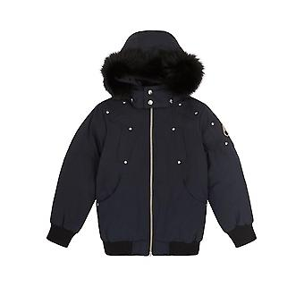 Moose Knuckles Junior Navy Blue Bomber Parka Jacket