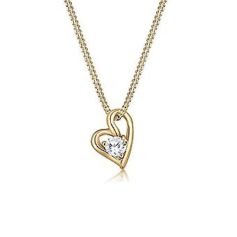 Elli Necklace with Women's Pendant in Yellow Gold 14K with White Cubic Zirconia