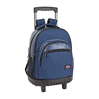 BlackFit8 - Official blue school backpack - big - with wheels - 320 x 140 x 460 mm