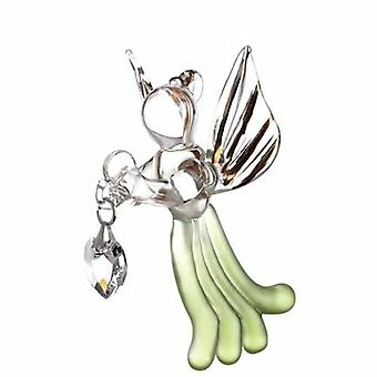 Peridot Loving Angel with Swarovski Crystal in Gift Box