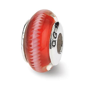 925 Sterling Silver Leštené odrazy Tmavo červená Murano Sklenená perla Kúzlo Prívesok Náhrdelník Šperky Darčeky pre ženy