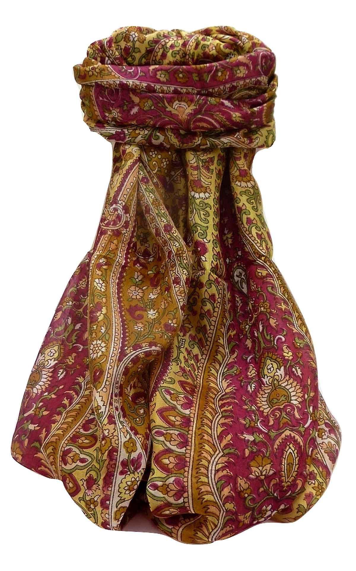 Mulberry Silk Traditional Long Scarf Amrindar Chestnut by Pashmina & Silk