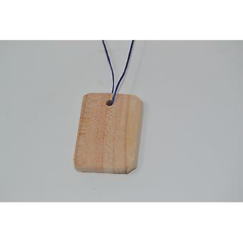 Wood pendant amulet wood scented cedar wood necklace unique handcrafted wood Cedar made in Austria