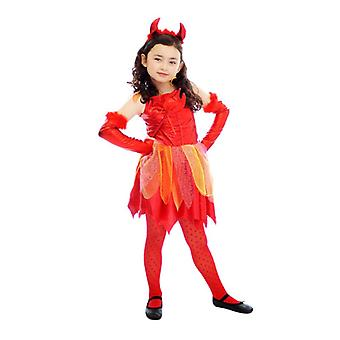 Filles Enfants Halloween Devil Fancy Dress Costume Age 4-6