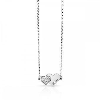Guess Jewellery Guess Me And You Double Heart Necklace UBN84074
