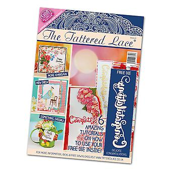 The Tattered Lace Craft Magazine Issue 23 + Free Congratulations Text Die