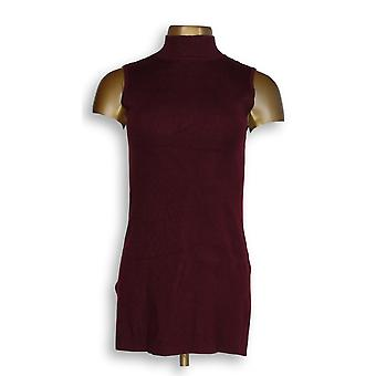 Linea by Louis Dell'Olio Women's Top XXS Whisper Knit Port Red A343029