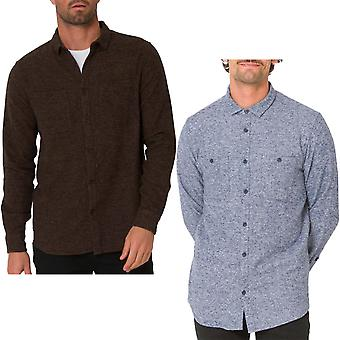 Animal Noise Mens Long Sleeve Two Pockets Flannel Check Shirt