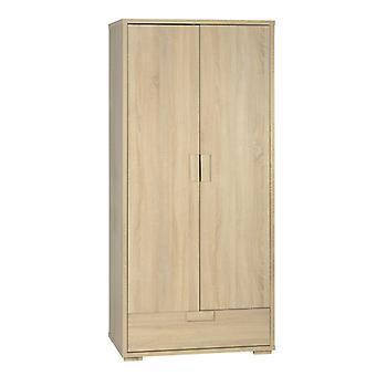Cambourne 2 Tür 1 Schublade Kleiderschrank Licht Sonoma Eiche