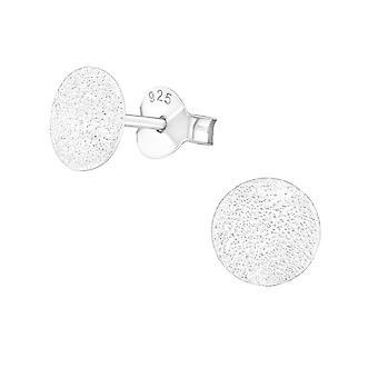 Ball - 925 Sterling Silver Plain Ear Studs - W16501X