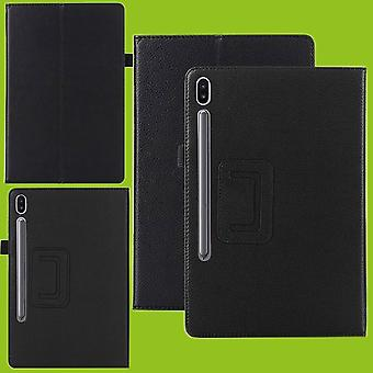 For Samsung Galaxy Tab S6 10.5 T860 T865 Black Faux Leather Case Cover Case Case New
