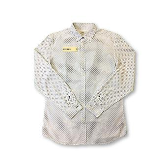 Diesel shirt in white geometric wrench pattern