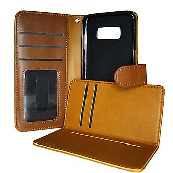 TOP 2in1 Wallet Case & card holder Samsung Galaxy S8 Brown