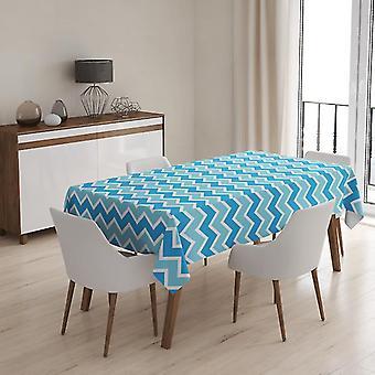 Meesoz Tischdecke - Modern Zigzags Azul