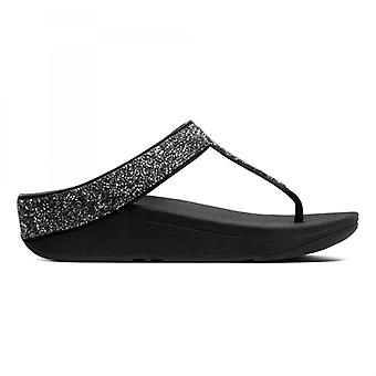 FitFlop Fino Quartz Ladies Toe Post Sandálias Preto