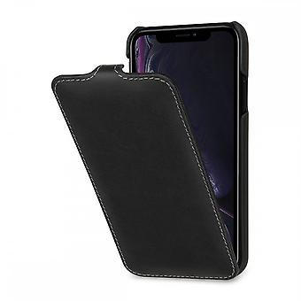Case For IPhone Xr Ultraslim Black Nappa In True Leather