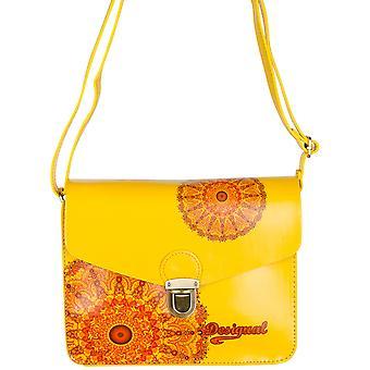 Desigual kvinder ' s gul Marc transparent satin håndtaske