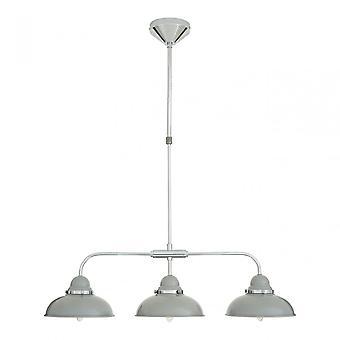 Premier Home Jasper 3 Shade Ceiling Pendant, Hanging Adjustable Light, Grey