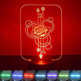 Nousi koriste suorakulmion värinvaihto LED Akryyli valo