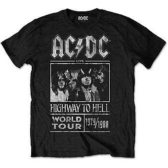 ACDC Highway naar Hell World Tour 79-80 Rock officiële T-shirt