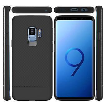 Para Samsung Galaxy S9 caja de armadura Snap negro armadura choque prueba de luz delgado cubierta
