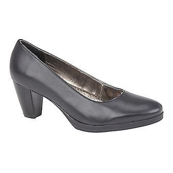 Mod Comfys Womens/dames Plain lederen hak Hof schoenen
