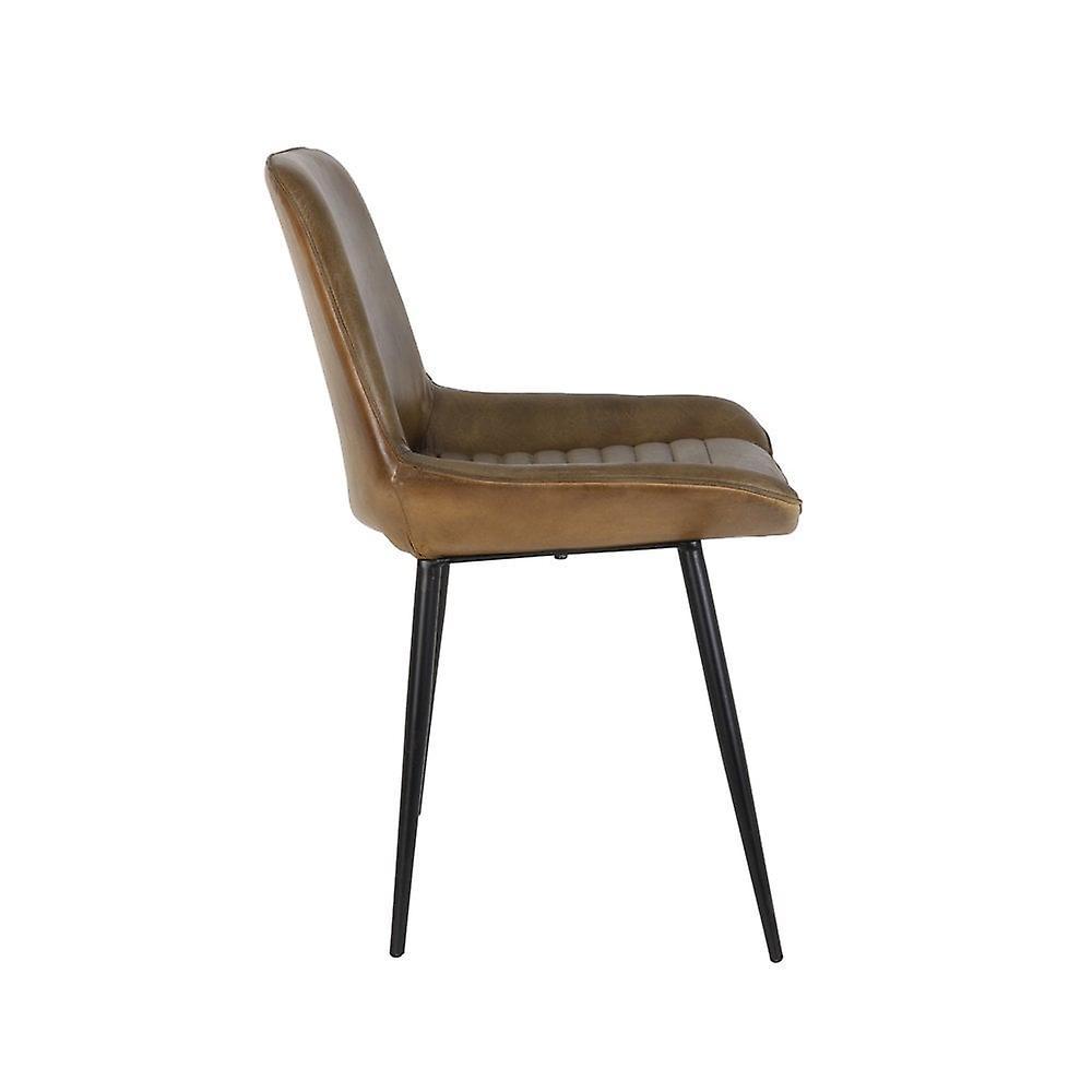 Chaise de salle à manger légère et vivante 46x54x85cm Labo Antique Brown