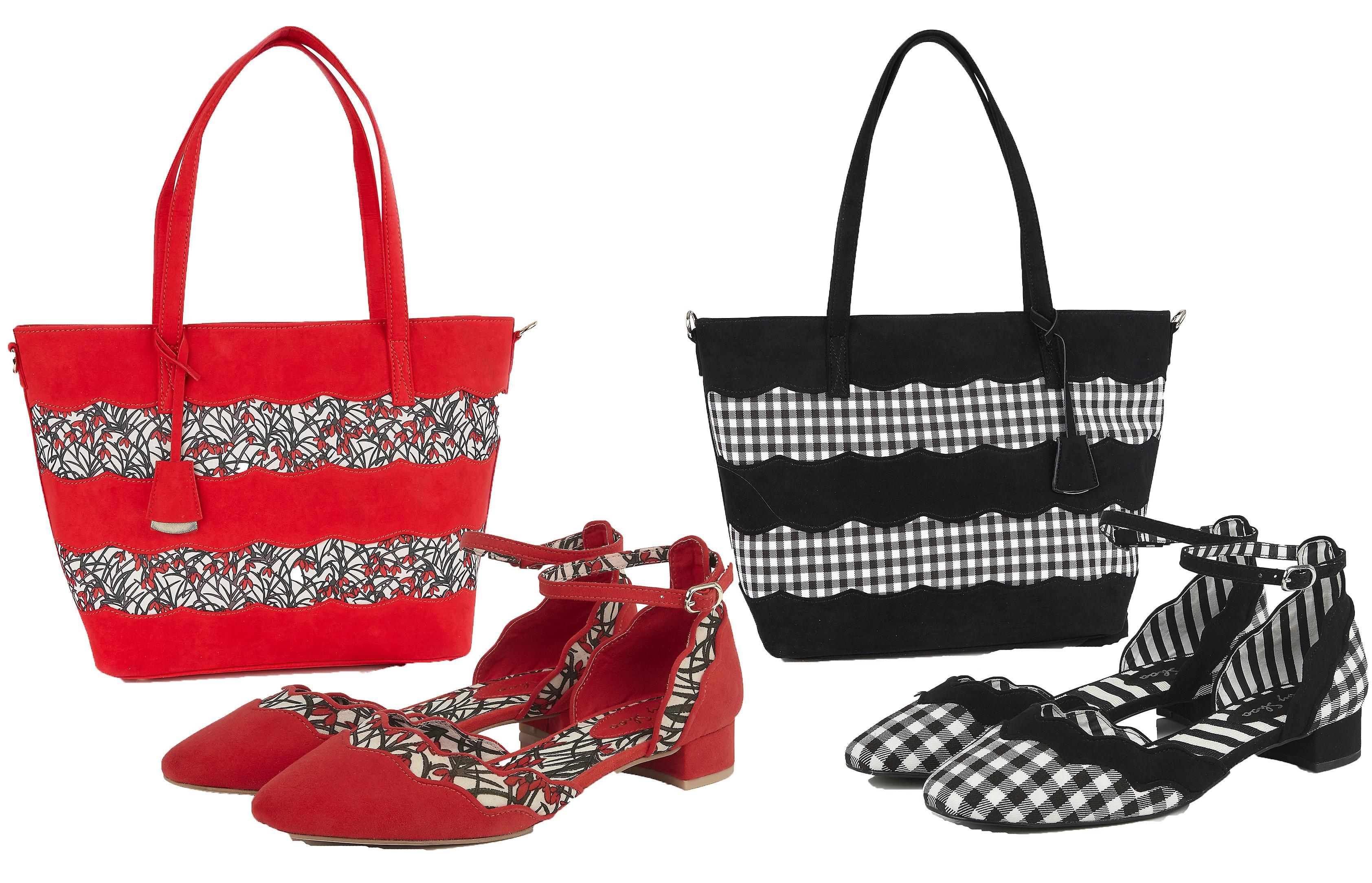 Ruby Shoo Women's Lydia Low Block Heel Shoes & Matching Mijas Shopper Bag pkpXb