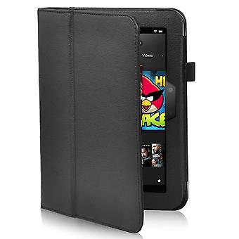 TRIXES Kindle Fire Bundle Black Leather Stand Case Screen Protector & Stylus Pen