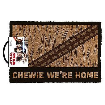 Star wars classic - chewie we're home doormat