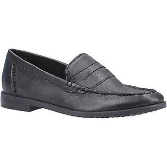 Hush Puppies Womens Wren Slip On Leather Loafer Shoes