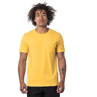 Rip Curl Eco Craft Short Sleeve T-Shirt in Washed Yellow