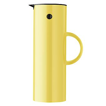 Stelton EM77 insulating can 1 litre soft yellow / light yellow thermos can