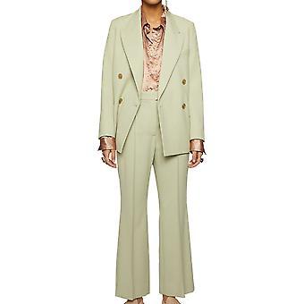 Acne Studios Ak0221abi Women's Green Polyester Pants