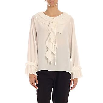 P.a.r.o.s.h. D311234002 Dames's Witte Polyester Blouse
