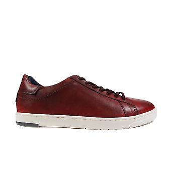 Bugatti 321-91801-3100 Rood Leer Mens Lace Up Casual Trainers