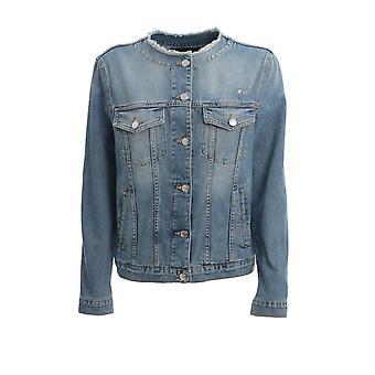 Ermanno Scervino Cp33jns156 Women's Blue Cotton Outerwear Jacket