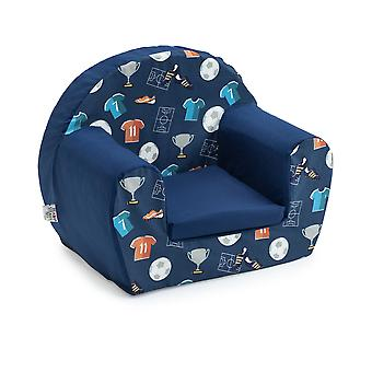 Ready Steady Bed Children Mini Armchair | Kids Sofa Seat Chair | Great for Playroom Kids Room Living Room | Lightweight and Durable (Champion)