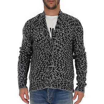 Saint Laurent 577643yagb21407 Men's Grey Wool Cardigan