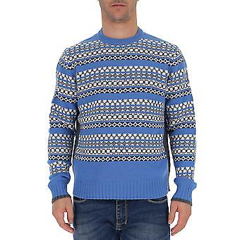 Prada Uma9423imf0n4y Männer's hellblau Wolle Pullover
