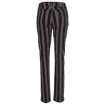 Run & Fly Grey Stripe Stretch Skinny Jeans